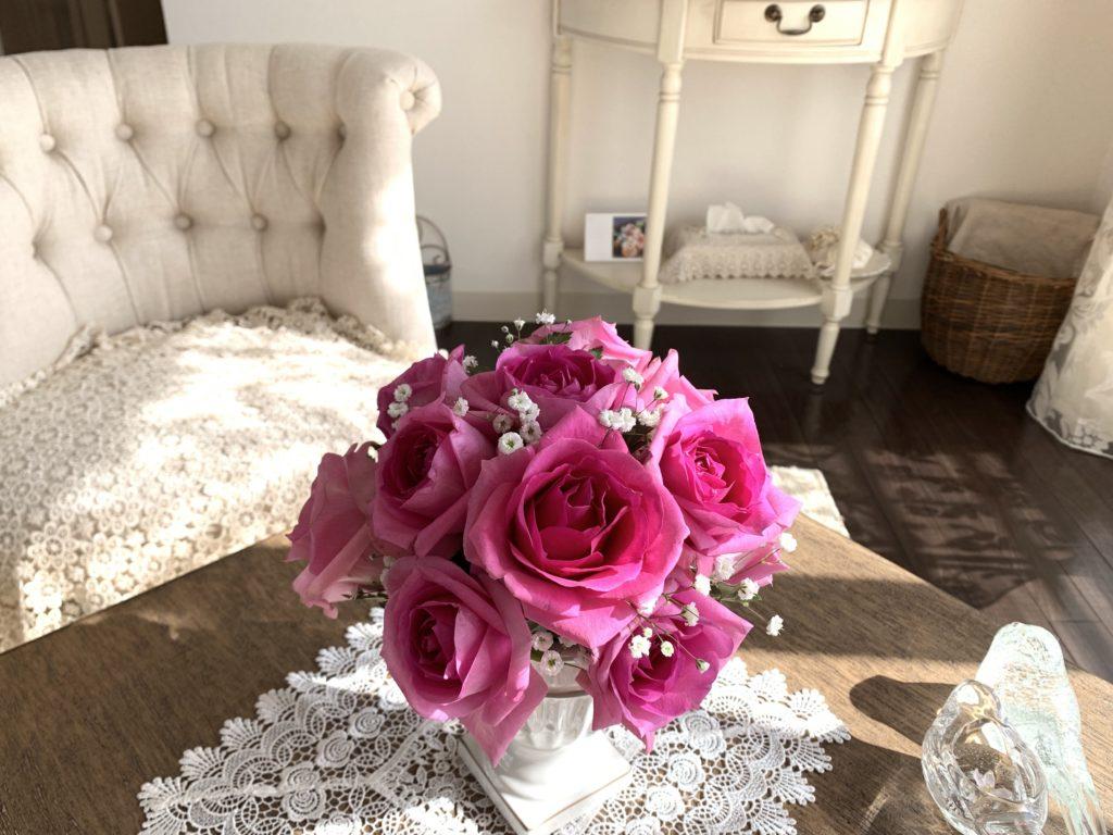 サロンニコ|バラと春の日ざし