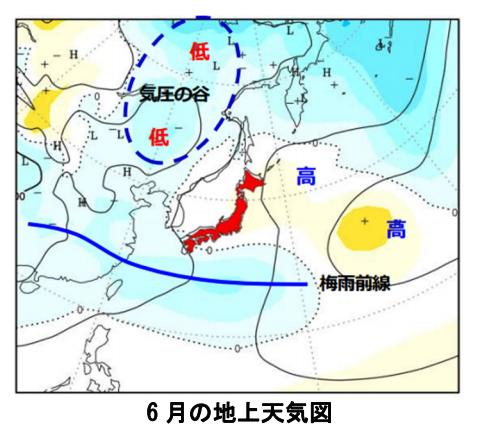 6月の天気図