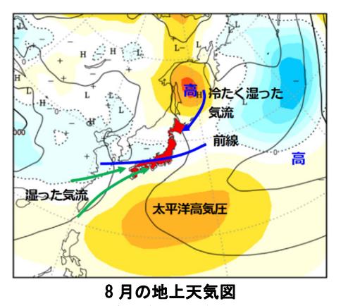 8月の天気図